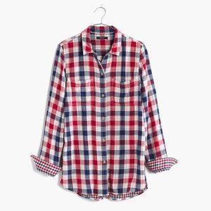 Madewell Ex-boyfriend Emmett Button Shirt E7464